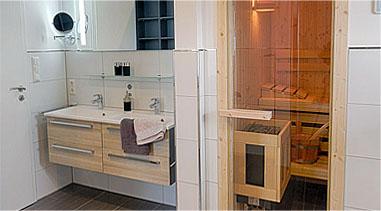 Ferienwohnung Wangerland: Ausstattung Wohnung 2 Badezimmer Ausstattung